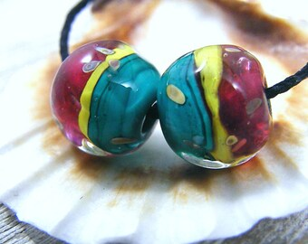 Handmade Lampwork Beads - Earring Pairs ~Ruza ~ Boho-Southwest~Gypsy