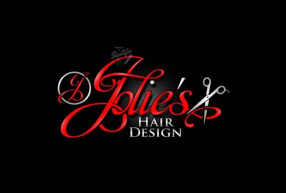 Hair Salon Logo with Scissors, Beauty Salon Logo, Hair Stylist Logo, Graphic Logo Design, Salon Sign Logo Design, Logo Design in Any Colors