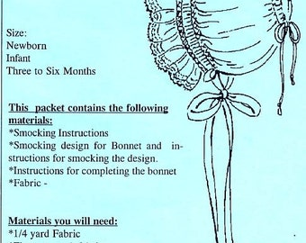 Baby Bonnet Pattern / Smocked Bonnet / Traditional Bonnet / by The Old Fashioned Baby