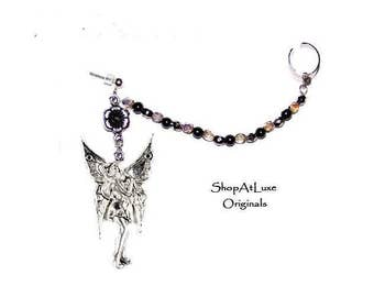 Solstice Fairy Pendant With Handcrafted Crystal Chain And Ear Cuff - Exclusive Design By SHOPATLUXE