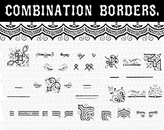 Diy Vector Border Combinations Illustrator Symbols Library