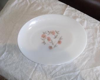 Vintage Fire King Fleurette Oval Platter