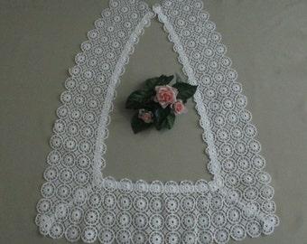 Vintage Antique White Lace Collar Cotton