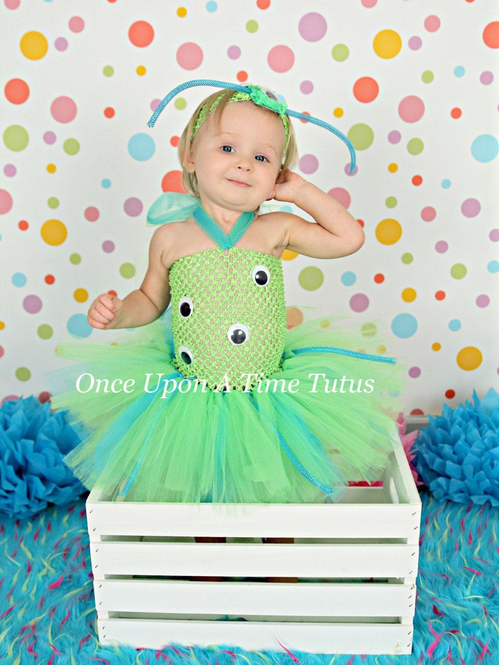 ?zoom  sc 1 st  Etsy & Green Blue Crazy Alien Monster Tutu Dress Birthday Outfit