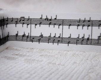 Black and White Music Washi Tape