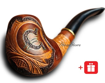 Groomsmen Gift Bachelor Party Gift EURO Smoking Pipe Tobacco Pipe HAND CARVED Pipe Wooden Pipe Wedding Birthday Gift Ideas Custom Engraving  sc 1 st  Etsy & Groomsmen Gift Bachelor Party Gift DRAGON Smoking Pipe Tobacco