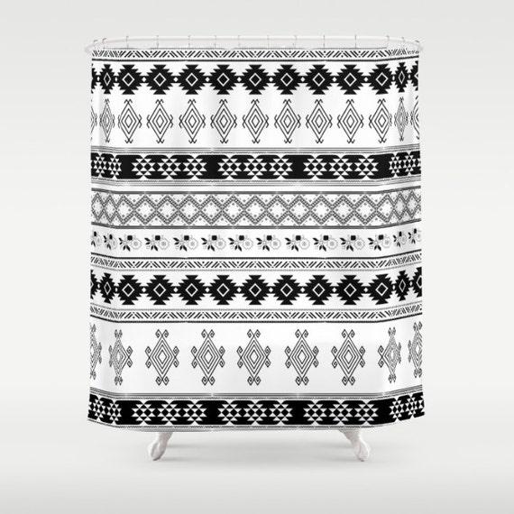 Items Similar To Boho Shower Curtain, Tribal Print Shower