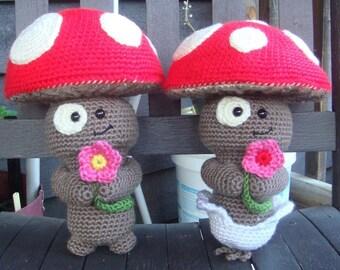 Mushroom Cutie - Crochet Pattern (PDF)