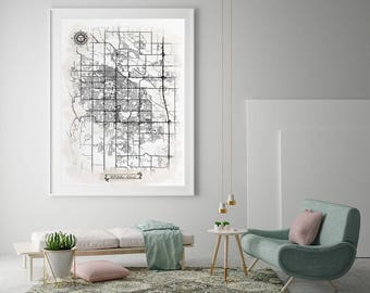 Fort collins co map Etsy