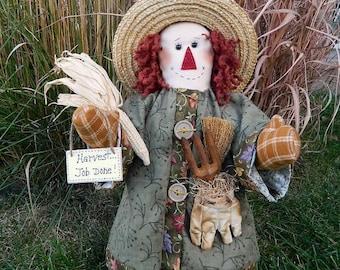 "Scarecrow Doll - Albert - 18"" Tall"