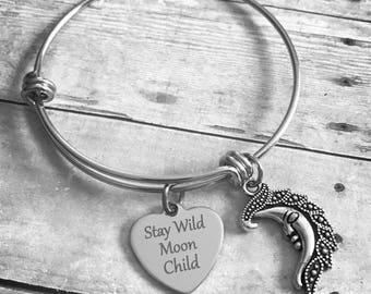 Stay Wild Moon Child Charm Bracelet