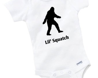Lil Squatch Onesie Bodysuit Baby Shower Gift Funny Geek Nerd Cute Sasquatch Bigfoot