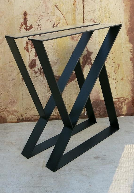 Z Metal Table Legs Set Of 2 Top Plate