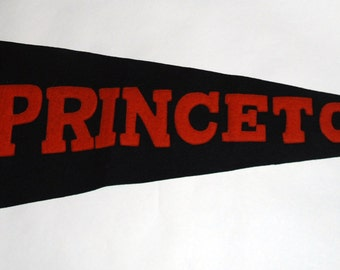Genuine Vintage Original 1920s-'30s Felt Pennant for Princeton University -- Free Shipping! Go Tigers!