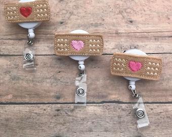 Band-aid Badge Reel - Badge Clip - RN Badge Reel - Retractable Badge Reel - ID Badge - Nurse Badge Reel - Bandage Badge Reel - Band-aid Clip
