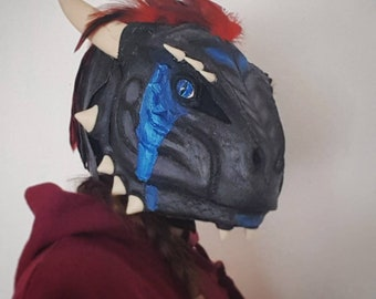 Argonian Head Mask custom movable Jaw