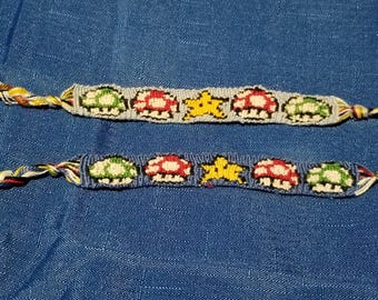 Super Mario Items Friendship Bracelet
