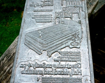 Vintage Sealy Bedding Advertising  Relief Printing Plate