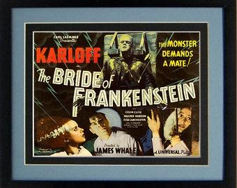 The Bride of Frankenstein Poster Framed 20 x15