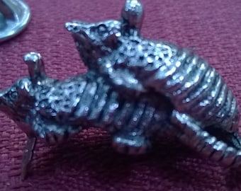 Jewelry Accessory Armadillo Sweater Pin Vintage Jewelry Entertaining Armadillos