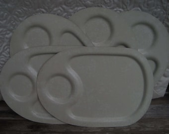 Metal Luncheon Tray, Set of Eight (8)