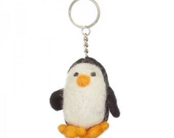 Penguin Felt Keyring