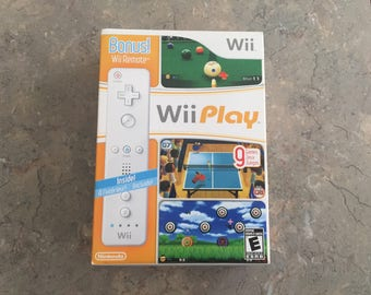Wii Play Bundle with Bonus Remote 9 games