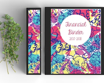 12 Page EDITABLE Finance Binder, CUSTOMIZABLE,  PRINTABLE, binder inserts, Bills