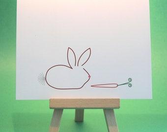 Bunny - Custom Blank Notecards - Set of 8