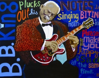 B.B. King Plucks Out His Notes...