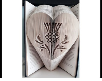 Thistle cut and fold combi book folding pattern 499 pages, Scottish thistle