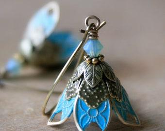 Wife Gift, Dangle Earrings, Flower Earrings, Gift For Wife, Romantic Gift For Wife, Valentine Gift. Gift For Her, Anniversary Gift for Wife