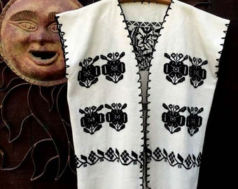 Vintage Ethnic Vest, Bohemian, Hippie, Folk Art Vest, Festival Wear