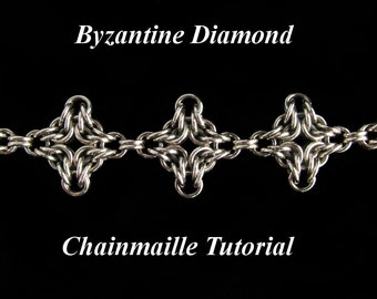 Chainmaille Tutorial for Byzantine Diamond Bracelet PDF Instructions Only