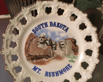 Mt. Rushmore South Dakota Souvenir Plate