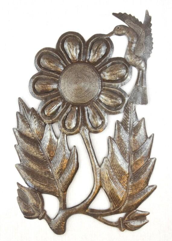 """Hummingbird To The Sunflower Nectar  11"""" X 17.5"""""""