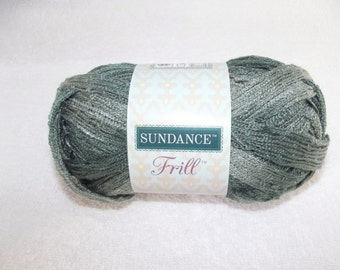 Sundance Frill Granite Yarn, Sashay Yarn, Gray Sashay Yarn, Gray Scarf Yarn, Grey Yarn Ruffles