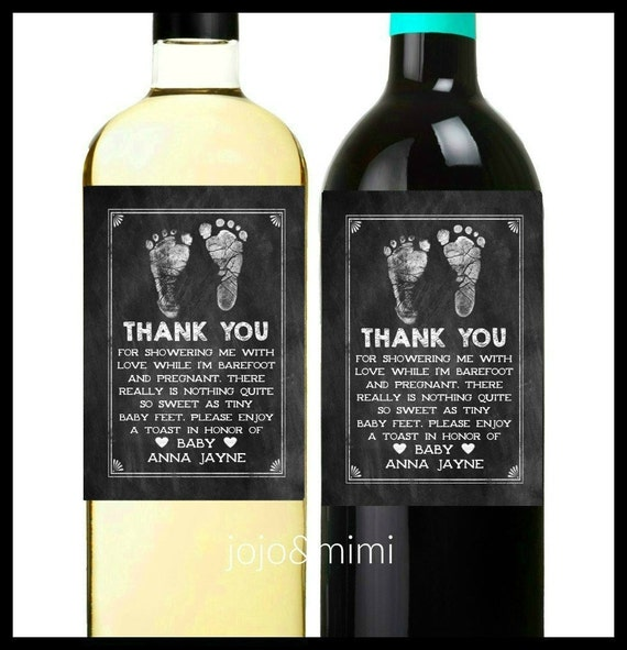 PERSONALIZED Wine Label Thank You For Showering Me With - Make your own wine label template