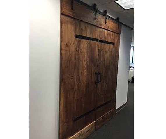 industrial barn door customize your design and size. Black Bedroom Furniture Sets. Home Design Ideas
