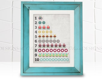 Robots Counting Chart 1-10 -  8x10 - DIY Printable - INSTANT DOWNLOAD