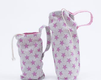 Bags for bottles, milk and water. With zipper and tape to hang on the stroller