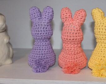 Bunny / Crocheted Bunny / Easter Bunny / Rabbit / Patel Bunny / Peep