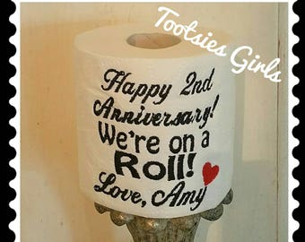 1st Paper Annniversary Funny Gift Personalized with Name
