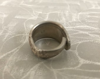 Antique Handmade Towle Old Mirror Sterling Spoon Ring