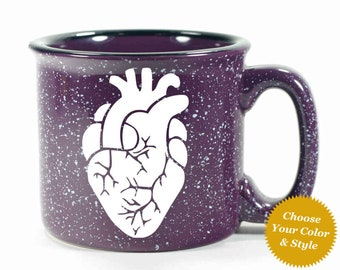 Anatomical Heart Mug - Choose Your Cup Color