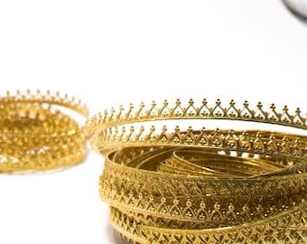 "Brass Gallery Bezel Wire Ribbon 4.5mm 24 Gauge 1-5 Feet Nu-Gold Jewelers Bronze Merlin's Gold Red Brass ""Turned Heart"" Pendant Stone Setting"