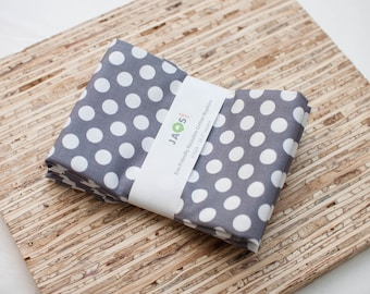 Large Cloth Napkins - Set of 4 - (N5246) - Charcoal Gray Circle Modern Reusable Fabric Napkins