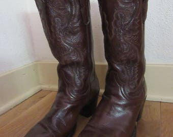 Dan Post Brown Vintage Cowboy Boots