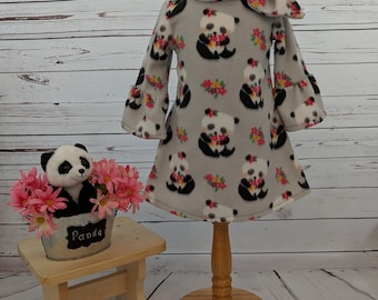 Panda Fleece Dress