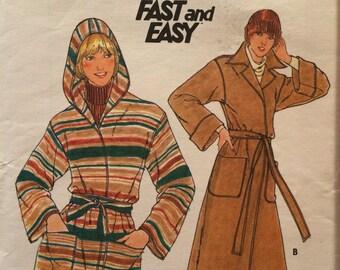 Fantastic Wrapped Coat Pattern---Butterick 5658---Size 16 Bust 38  UNCUT